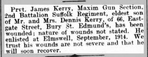 James Kerry newspaper record