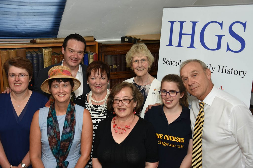 AGRA members Paul Carter, Ann Ballard, Jane Sheehan, Celia Heritage, Pamela Smith, Sharon Grant [Chair], Elizabeth Yule [Director of Research Achievements and Les Mitchinson [IHGS Director of Education and AGRA Vice Chair].